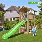 Legetårn komplet Jungle Gym Cottage inkl. rutschebane