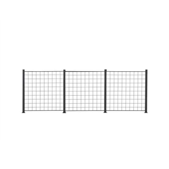 3 Fag espalier antracitgrå 100 x 100 cm inkl. 4 alu stolper 108 cm