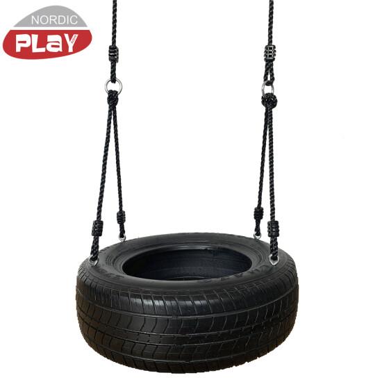 Dækgynge med sort reb NORDIC PLAY Active