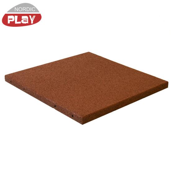 Gummiflise 500 x 500 x 30 mm rød NORDIC PLAY Active