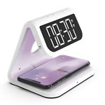 Alarm clock with wireless charging and UV sanitizer VENTUS