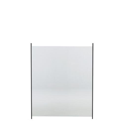 Glashegn til alu stolper 100 x 80 cm klar glas