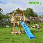 Legetårn komplet Jungle Gym Chalet inkl. rutschebane