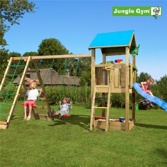 Legetårn komplet Jungle Gym Castle inkl. Climb module x'tra ekskl. rutschebane