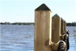 Kokille messingtop, PYRA 78, 2 stk stolpehat