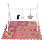 NORDIC PLAY legegulv/puslespil 30 x 30 cm 10 mm med dyr pink 9 stk.