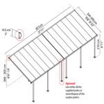 Terrasseoverdækning PALRAM Feria 25,1 m2, antracitgrå