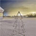 Metal juletræ 120 cm med 130 stk. LED lys.