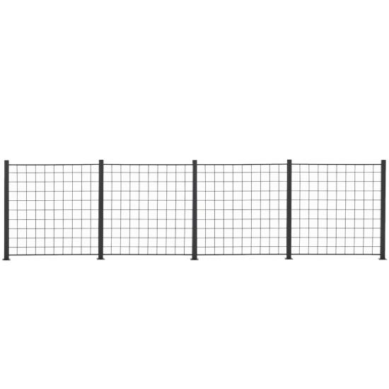 4 Fag espalier antracit grå 100 x 100 cm inkl. 5 alu stolper 108 cm