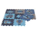 NORDIC PLAY legegulv/puslespil 30 x 30 cm 10 mm transport blå 9 stk.