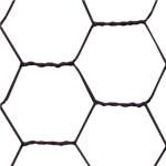 Trådflet sort 25 x 750 mm, 10 m Sort