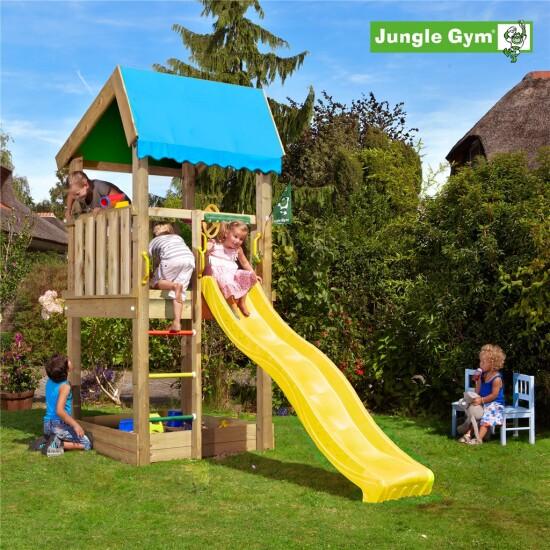 Legetårn komplet Jungle Gym Home ekskl. rutschebane