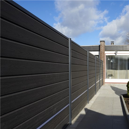 Kirkedal K1 F&N-profil hegnspakke 1 fag, 170 cm, sort alu