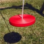 Tallerkengynge NORDIC PLAY med reb, rød