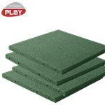 Gummiflise 50 x 50 x 3 cm grøn NORDIC PLAY Active 7,5 m2 - 30 stk.