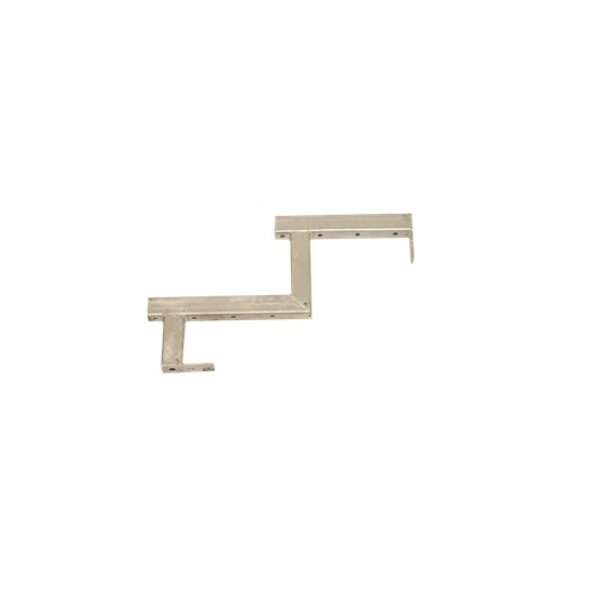 Galvaniseret trappevange 2-trin