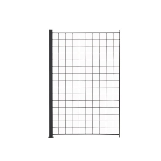 1 Tillægsfag espalier antracit grå 150 x 100 cm inkl. 1 alu stolper 158 cm