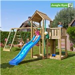 Legetårn komplet Jungle Gym Mansion inkl. Climb module x'tra og rutschebane