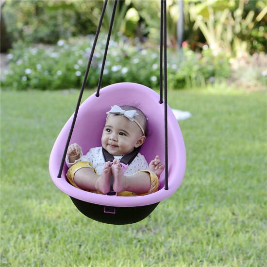 Babygynge Swurfer Kiwi lyserød