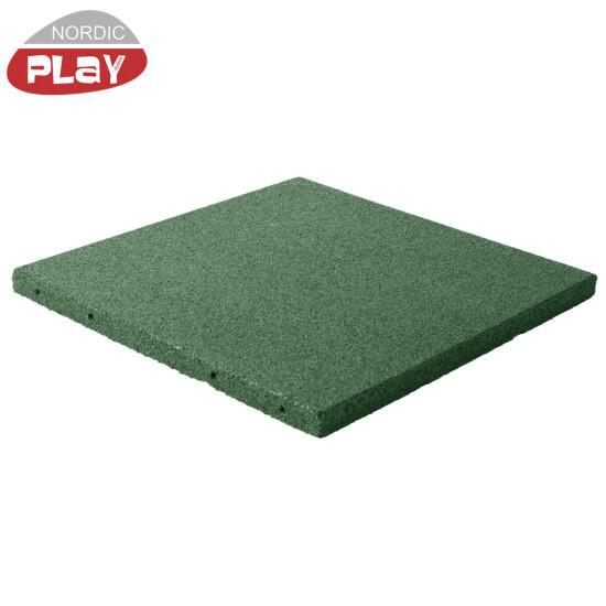 Gummiflise 500 x 500 x 30 mm grøn NORDIC PLAY Active