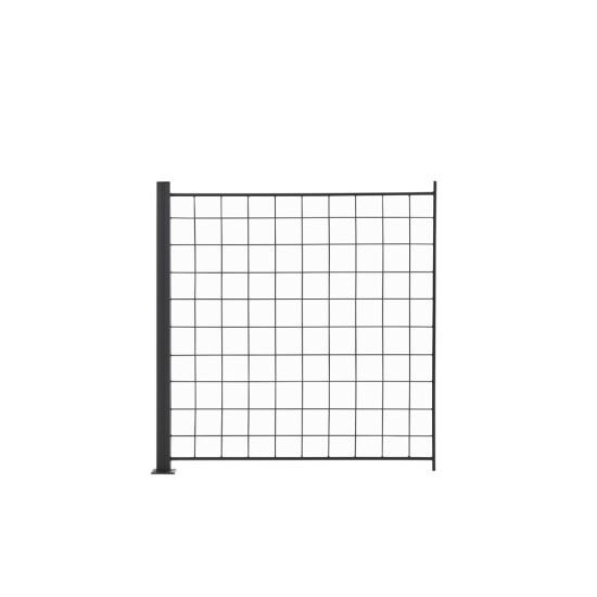 1 Tillægsfag espalier antracit grå 100 x 100 cm inkl. 1 alu stolper 108 cm