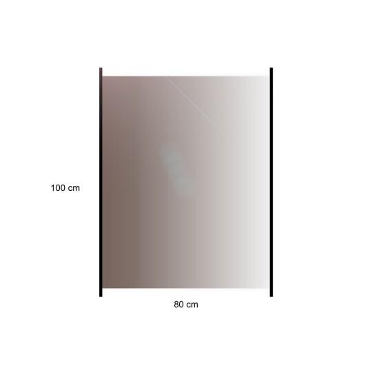 HORTUS Glashavehegn med aluskinne 100 x 80 cm