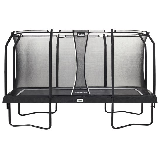 Trampolin Premium Edition rektangulær 244x396 cm, sort inkl. sikkerhedsnet