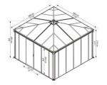 Havepavillon lukket PALRAM Ledro 3600, antracitgrå
