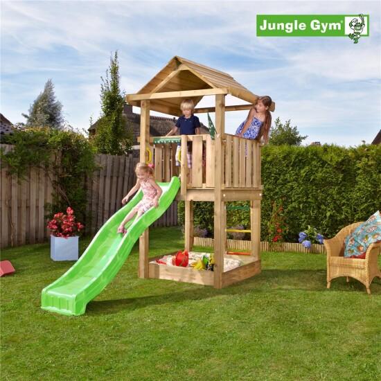 Legetårn komplet Jungle Gym House ekskl. rutschebane