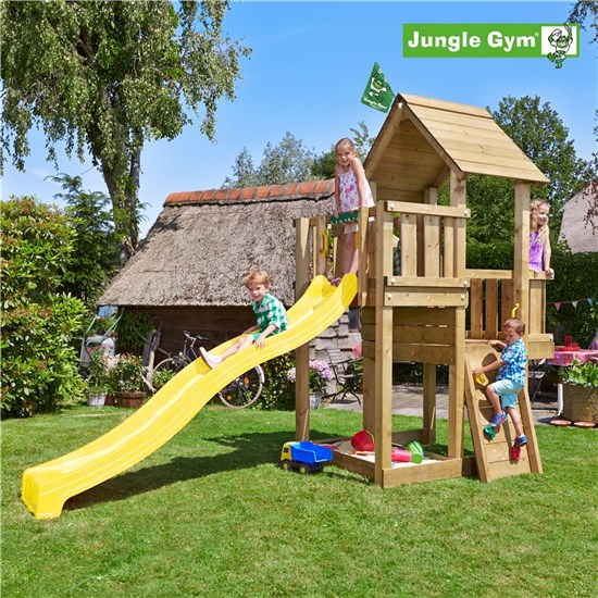 Legetårn komplet Jungle Gym Cubby inkl. rutschebane