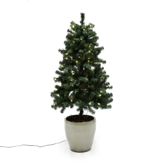Kunstigt juletræ udendørs 120 x 82 cm med lys
