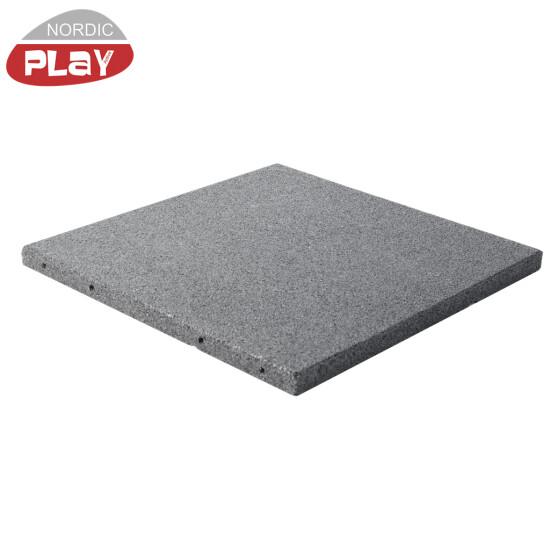 Gummiflise 500 x 500 x 30 mm grå NORDIC PLAY Active