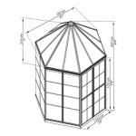 Drivhus PALRAM Oasis hexagonal 4 m2
