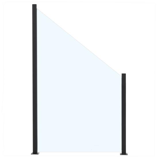 Glashavehegn med aluskinne 150/100 x 100 cm, klar