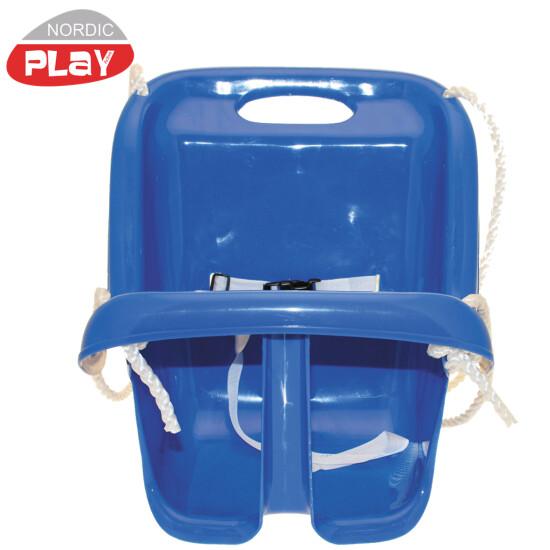 Babygynge NORDIC PLAY m/ høj ryg, blå