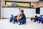 Traktor med trailer, rive og skovl FALK Baby New Holland