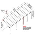 Terrasseoverdækning PALRAM Feria 28,6 m2, antracitgrå