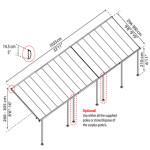 Terrasseoverdækning PALRAM Feria 30,7 m2, antracitgrå