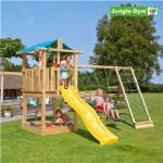 Legetårn komplet Jungle Gym Hut inkl. Climb module x'tra og rutschebane