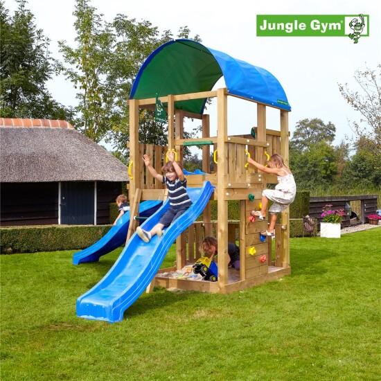 Legetårn komplet Jungle Gym Farm ekskl. rutschebane