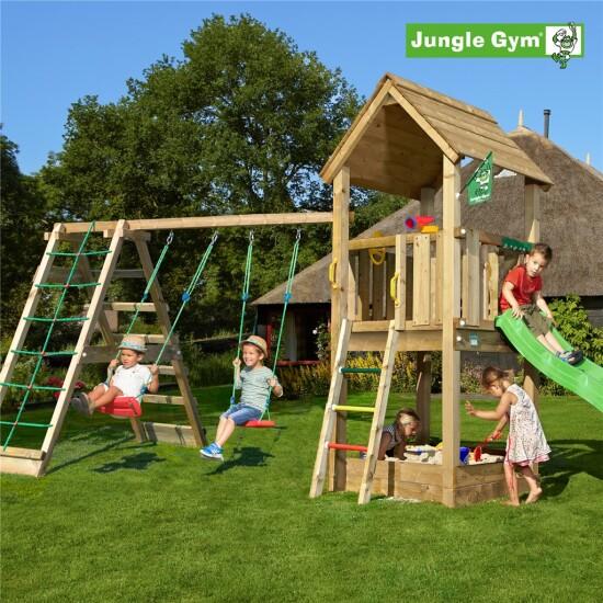Legetårn komplet Jungle Gym Club inkl. Climb module x'tra og rutschebane