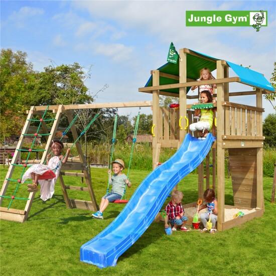 Legetårn komplet Jungle Gym Fort inkl. Climb module x'tra ekskl. rutschebane