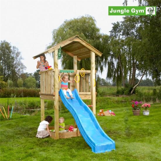 Legetårn komplet Jungle Gym Casa inkl. rutschebane