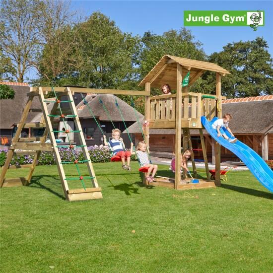 Legetårn komplet Jungle Gym Shelter inkl. Climb module x'tra og rutschebane