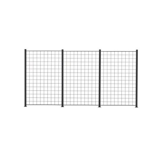 3 Fag espalier antracitgrå 150 x 100 cm inkl. 4 alu stolper 158 cm