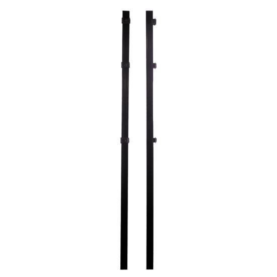 Stolpe 4 x 4 x 150 cm, sort