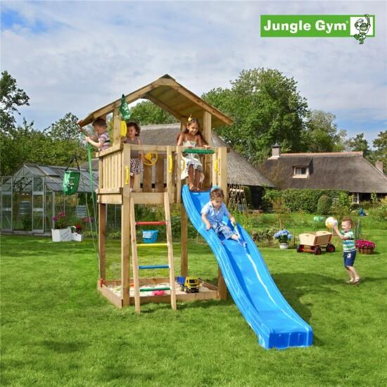 Legetårn komplet Jungle Gym Chalet ekskl. rutschebane