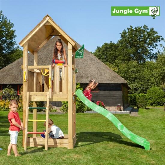 Legetårn komplet Jungle Gym Club inkl. rutschebane