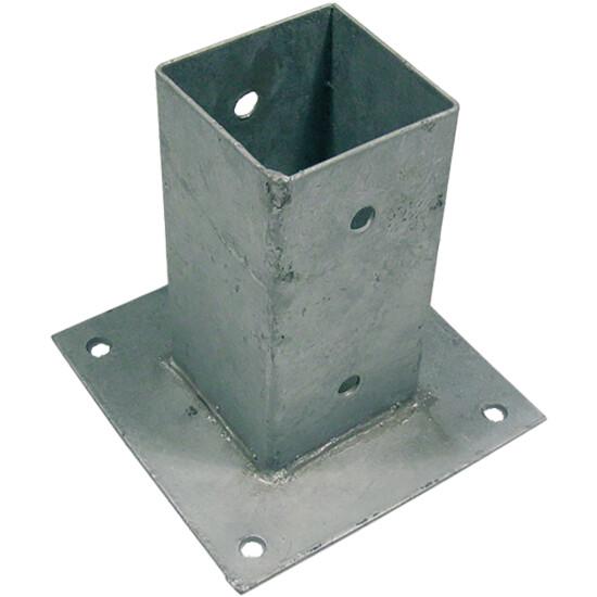 Stolpefod galvaniseret 71 x 71 mm, H: 150 mm
