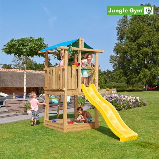 Legetårn komplet Jungle Gym Hut ekskl. rutschebane